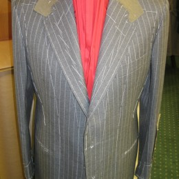 Grey Chalk Stripe